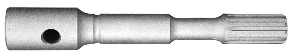 spline drive at taper adapter