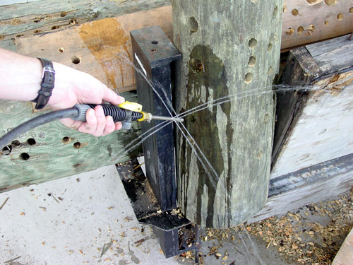 treating rod side holes