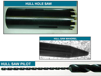hole saw - carbide tipped drill bits wood masonry metal auger hole saw custom manufacture repair retip refurbish