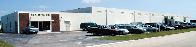 B & A Manufacturing Company - Plant Picture - 3665 East Industrial Way West Palm Beach Florida
