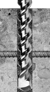 rebar cutter - sds plus rebar cutter - rotary only - carbide tipped drill bits - masonry drill bits