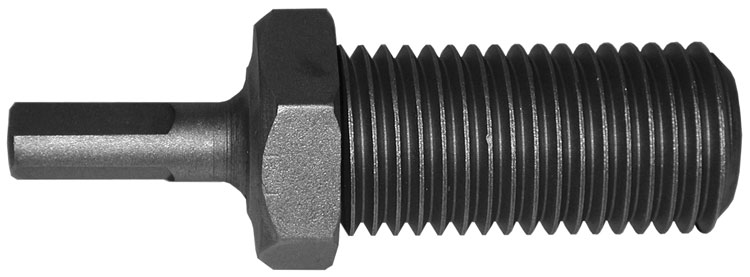 "adapters - threaded - male 1/2"" round 3 flats to 1-1/4"" - 7 Male Thread"