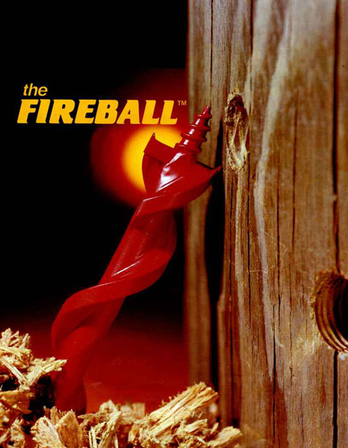 fireball self feeding wood auger drill bits - carbide tipped drill bits
