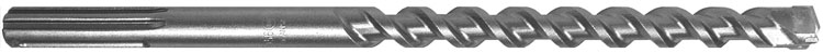B & A Manufacturing Company - SDS Max Hammer Drill Bit - Carbide Tipped Drill Bits - Percussion Drill Bits - Straight Shank Drill Bits